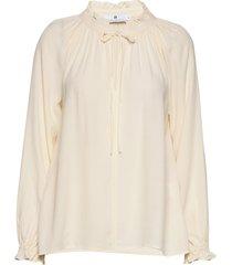 gaia cupro blouse lange mouwen crème arnie says