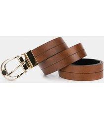 cinturón doble faz imagine de cuero para mujer