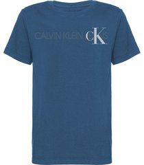 tshirt mc rolo silk logo + ck - azul médio - 6
