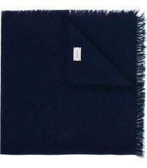 gucci blue cotton scarf