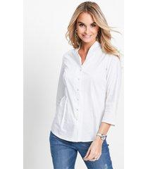 blouse met opstaande kraag