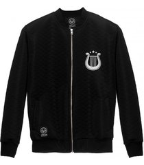 bomber pure black