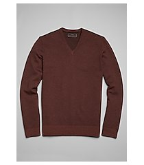 reserve collection cotton & cashmere blend herringbone v-neck men's sweater clearance
