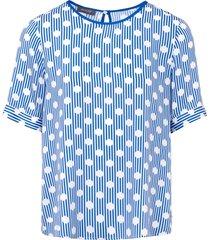 blouse met korte mouwen van basler blauw