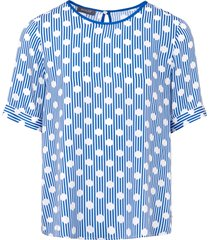 blouse met korte mouwen van basler multicolour