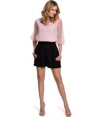 korte broek makover k049 relaxed shorts - zwart