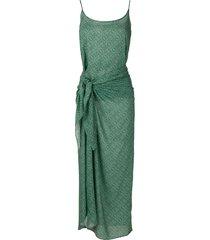 track & field tribos softmax sarong dress - green