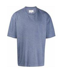 maison margiela camiseta com logo - azul