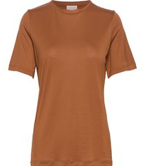 amatta t-shirts & tops short-sleeved brun by malene birger
