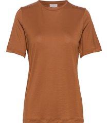 amatta t-shirts & tops short-sleeved brun by malene birger
