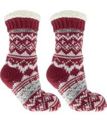 minxny women's cabin dreams old school slipper socks, 3 piece