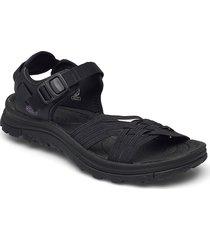 ke terradora ii strap open toe w blk-afr violet shoes summer shoes flat sandals svart keen