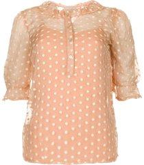 blouse met borduursels charley  roze
