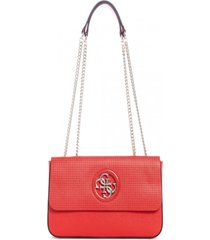 cartera open road cnvrtble xbody flap rojo guess