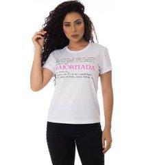 camiseta a jornada thiago brado 6027000004 branco - branco - pp - feminino