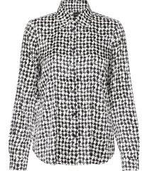 3174 satin - latia blouse lange mouwen zwart sand
