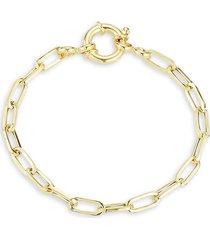 chloe & madison women's 14k yellow gold vermeil link bracelet