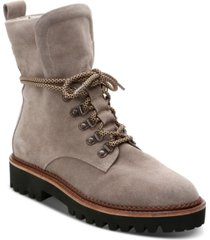sanctuary march lace-up lug sole hiker booties women's shoes