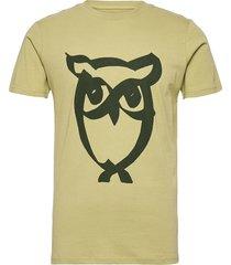 alder brused owl tee - gots/vegan t-shirts short-sleeved grön knowledge cotton apparel