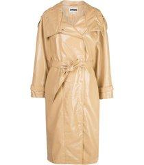 apparis oversized trench coat - neutro