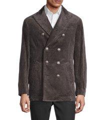 brunello cucinelli men's standard-fit corduroy jacket - charcoal - size 50 (40)