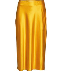 rylee skirt knälång kjol gul modström