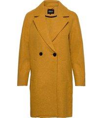 onlberna bonded coat cc otw wollen jas lange jas geel only