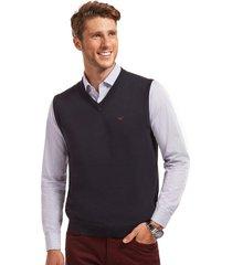 sweater business sin mangas azul ferouch