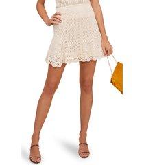 women's astr the label koa crochet skirt