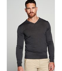 michaelis pullover merino wol/acryl antraciet