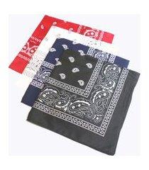 kit bandana tuliska azul preta branca e vermelha