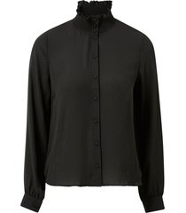 blus vmzigga l/s high neck smock shirt