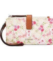 cartera billetera gracyn nine west para mujer blanco floral