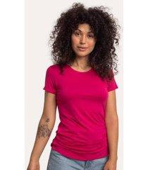 camiseta decote redondo em modal cora básico feminina - feminino