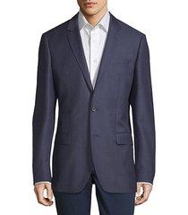 notch lapel wool jacket