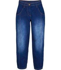 7/8-jeans med justerbar bekväm midja, extra vid