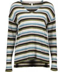 sweater cuello en v algodón ecológico turquesa esprit
