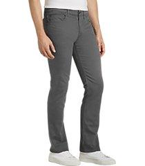 joe's jeans brixton light gray slim fit twill pants