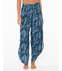jessica simpson batik babe tie waist beach pants women's swimsuit