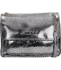 marc ellis rubye l shoulder bag in silver leather