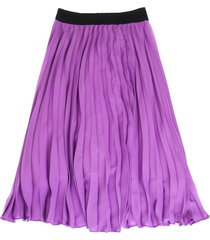 msgm long skirt in lilac fabric