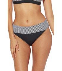 women's bleu by rod beattie inside the lines bikini bottoms, size 6 - black