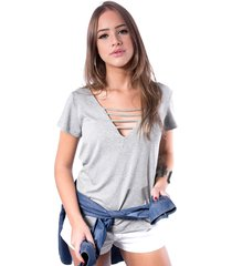 blusa de tiras up side wear cinza
