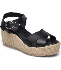 biadaneen sandal sandalette med klack espadrilles svart bianco