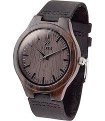 reloj madera negro sándalo nerfis