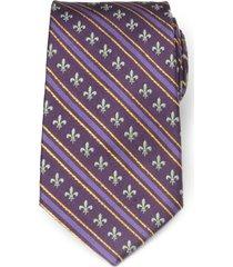 men's cufflinks, inc. mardi gras stripe silk tie