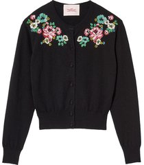 marc jacobs the beaded love cardigan - black