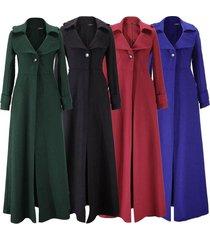 warm floor length coat cashmere coat manteau women one buckle windbreaker