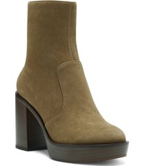 vince camuto women's kentsa platform booties women's shoes