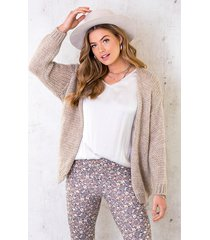 oversized knitted vest taupe